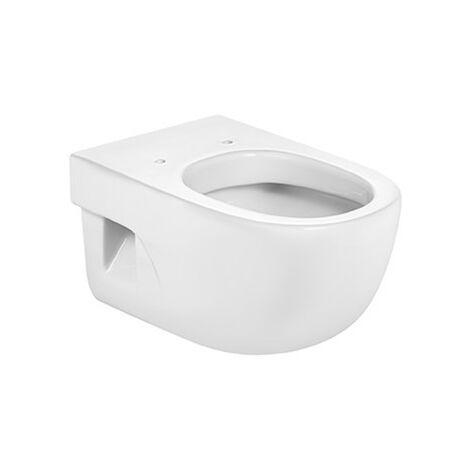 Roca - Taza para inodoro de porcelana suspendido con salida a pared - Serie Meridian (36 x 56 x 40 cm) - Color Blanco o Pergamon