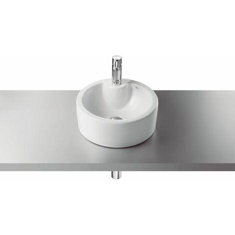 ROCA Terra lavabo sobrencimera 39 c/orificio griferia blanco