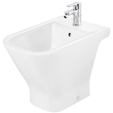 Roca The Gap Bidet with Soft Close Seat 560mm Projection - 1 Tap hole