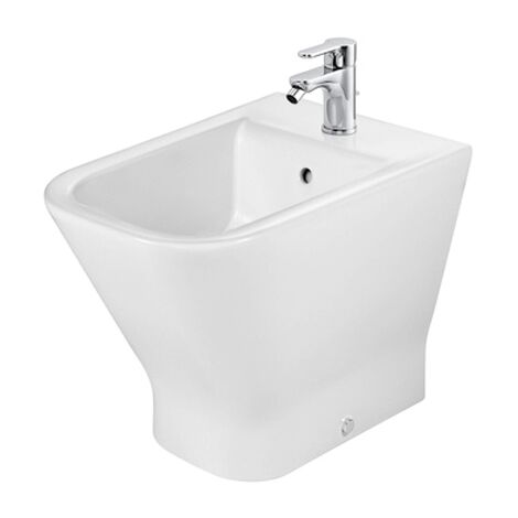 Roca The Gap Flush-to-Wall Bidet, 540mm Projection, 1 Tap Hole