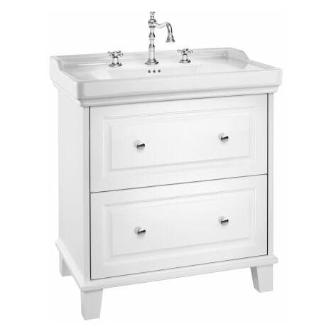 Roca-Unik Carmen(mueble base con dos cajones y lavabo) blanco satinado.
