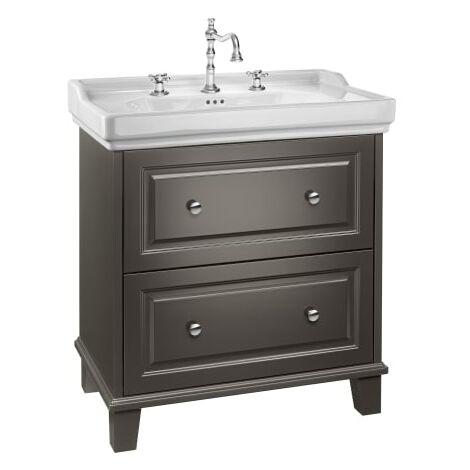 Roca-Unik Carmen(mueble base con dos cajones y lavabo) gris oscuro satinado.
