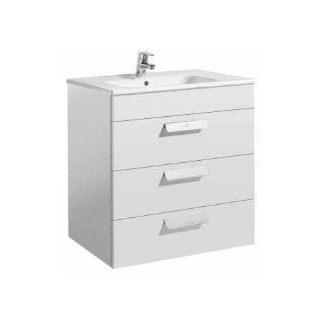 Roca - Unik (mueble base con tres cajones y lavabo) - 70 cm, Serie Debba , Color Blanco brillo - A855973806