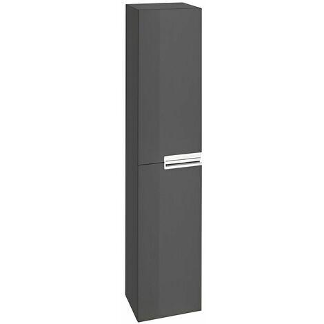 Roca Victoria-N 2-Door Column Unit 300mm Wide - Gloss Anthracite Grey