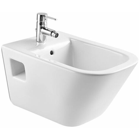 Roca Wall Hung Bidet Toilet Contemporary Gloss Bathroom Cloakroom White