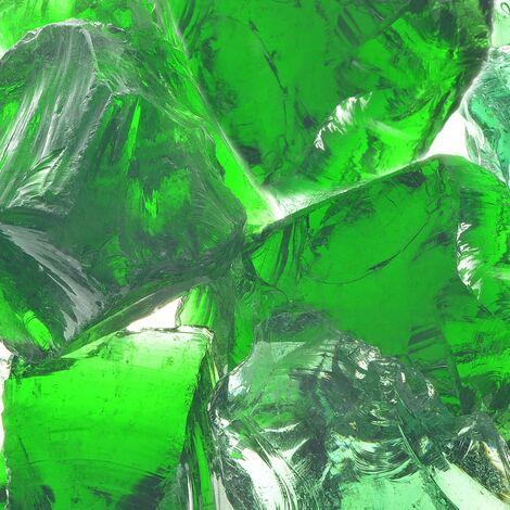 Rocas de gavión de jardín vidrio verde 60-120 mm 25 kg