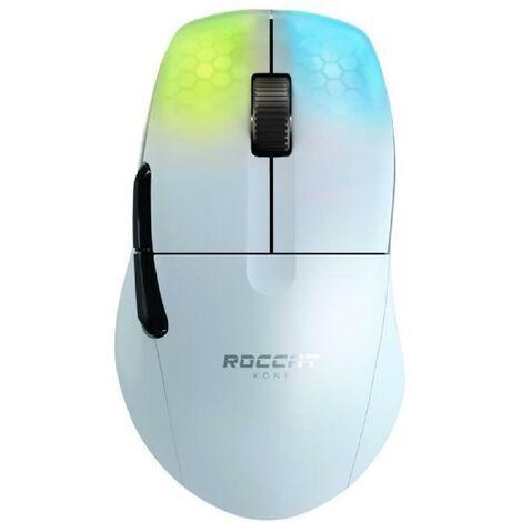 ROCCAT Souris de jeu ergonomique ultraperformante Kone One Pro Air White