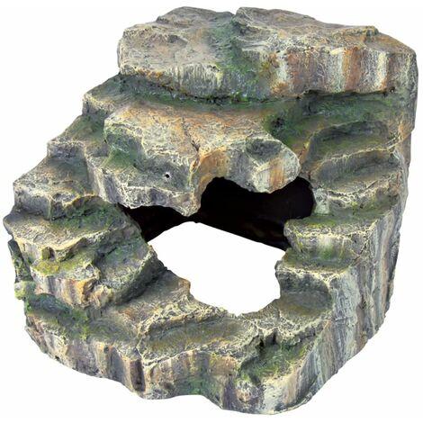 Rocher d'angle avec caverne et plateforme