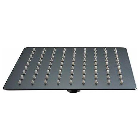 Rociador cuadrado negro mate de acero inoxidable 25 cm - IMEX