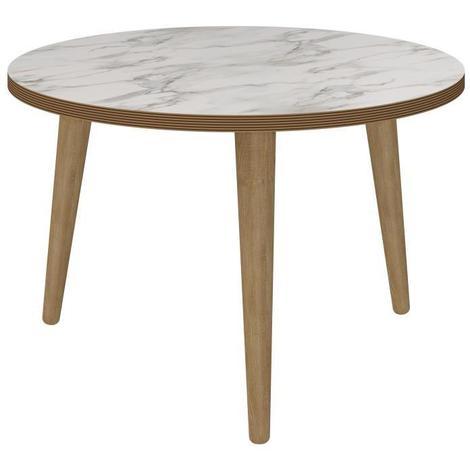 rock table basse ronde scandinave effet marbre 60 cm. Black Bedroom Furniture Sets. Home Design Ideas