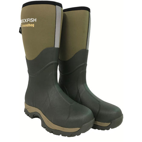 Rockfish Mens Neoprene Lined Groundhog Wellington Boots