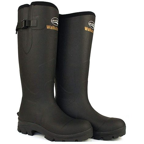 Rockfish Mens Neoprene Lined Walkabout Wellington Boots