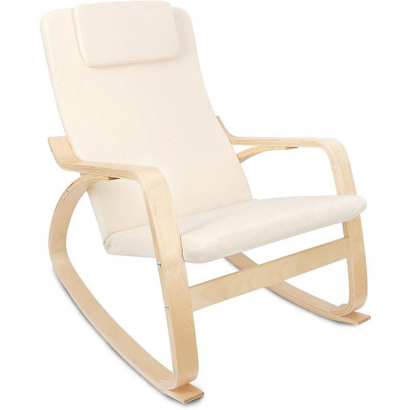 Coussin Pour Fauteuil Adirondack rocking chair , chaise à bascule, beige, coussin 100% coton, matériau du  coussin: coton