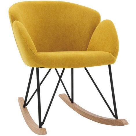 Rocking chair design velours RHAPSODY - Miliboo & Stéphane Plaza