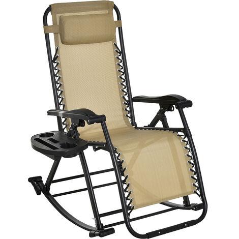 Rocking chair pliable chaise longue zéro gravité 2 en 1