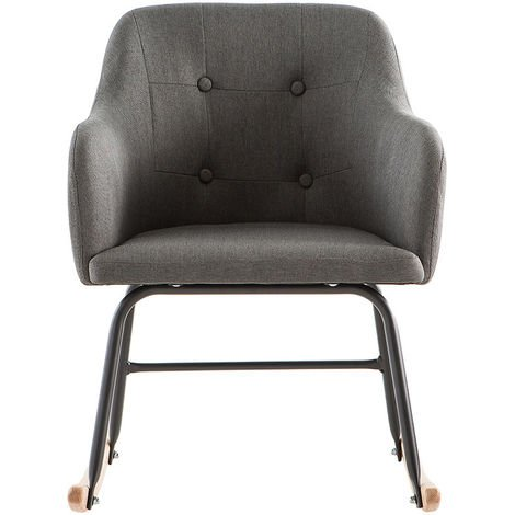 Rocking chair scandinave BALTIK - Miliboo & Stéphane Plaza - Gris foncé