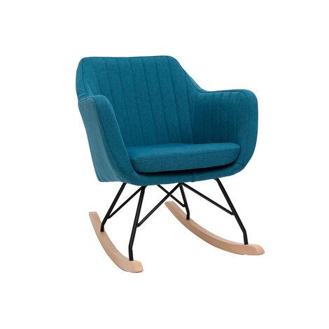 Rocking chair scandinave en tissu ALEYNA