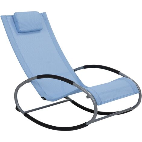 Rocking Sun Lounger Blue CAMPO