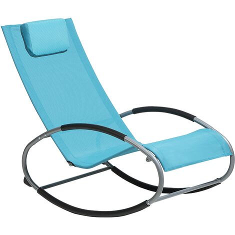 Rocking Sun Lounger Turquoise Blue CAMPO