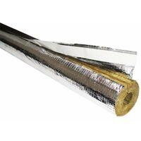 Rockwool Rohr Isolierung 100% Rohrschale alukaschiert Rohrisolierung 35 x 30mm 1m