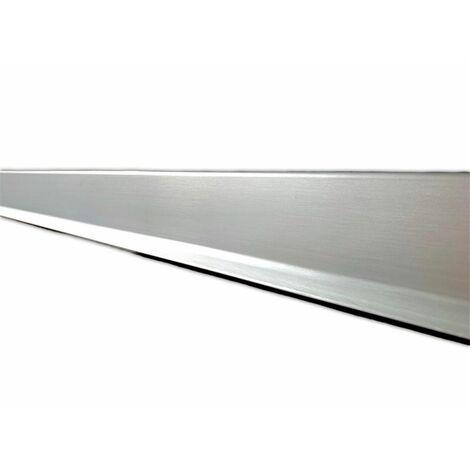 Rodapie Aluminio Labio Inferior Plata 3m