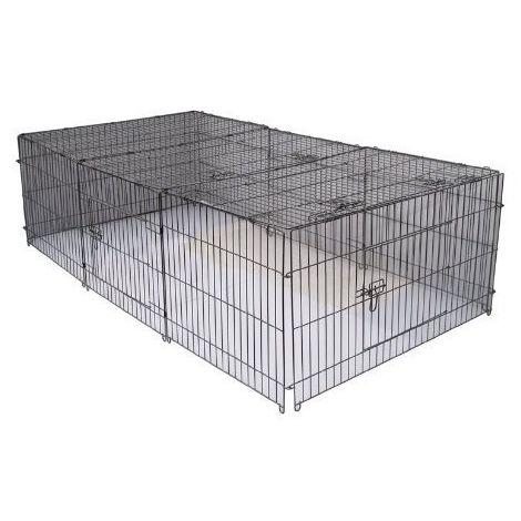 Rodents Puppy run | Rabbit pen Galvanized 144 x 112 cm XL
