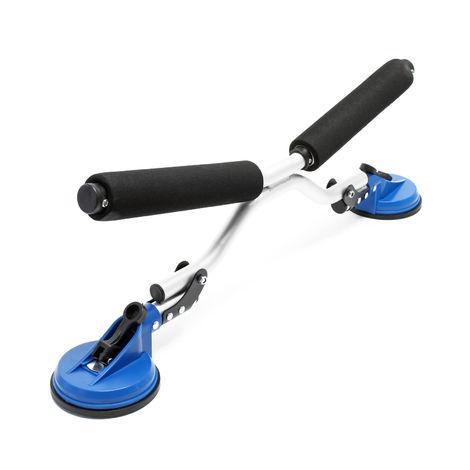 Rodillo ayuda carga kayak Dispositivo deslizar canoa Subir kayak al coche Ventosas fijación Outdoor