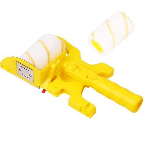 Rodillo de pintura pared cepillado herramienta de recorte de color rodillo de separacion del sistema de cepillo con rodillo cepillo de mango 1 2 lavables y reutilizables rodillo de pintura de la cabeza del cepillo 2