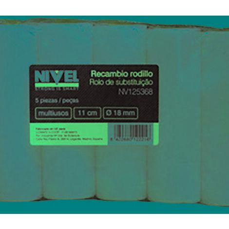 Rodillo pintura recambio mini multiusos poro 0 11 cm nivel espuma nv125368