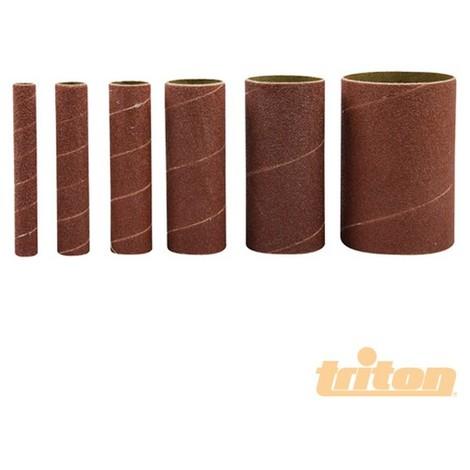 Rodillos de lija de óxido de aluminio. 6 pzas (TSS80G Rodillos de lija grano 80. 6 pzas)