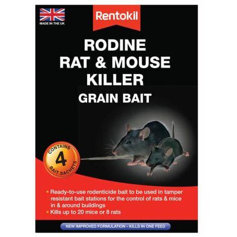 Rodine Rat & Mouse Killer Grain Bait 4 Sachets (RKLPSMR12)