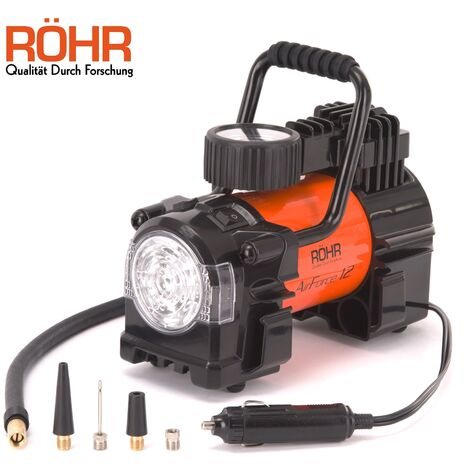 Röhr Airforce 12 - Gonfleur de pneus / Compresseur d'air Torche LED 12V 150 PSI
