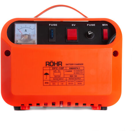 RÖHR DFC-10P 6V / 12V Car Battery Charger - Trickle / Turbo Charge With Pulse Repair