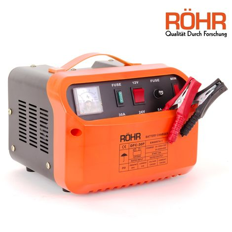 RÖHR DFC-30P 12V / 24V Car Battery Charger - Trickle / Turbo Charge With Pulse Repair