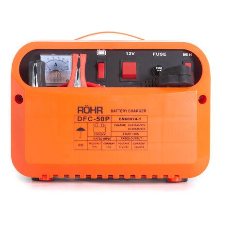 Röhr DFC-50P - 12/24 V - 45A Chargeur de Batterie Intelligent - Recharge Rapide / d'entretien - régénérateur / démarreur