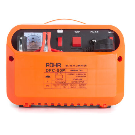 RÖHR DFC-50P 12V / 24V Car Battery Charger - Trickle / Turbo Charge With Pulse Repair