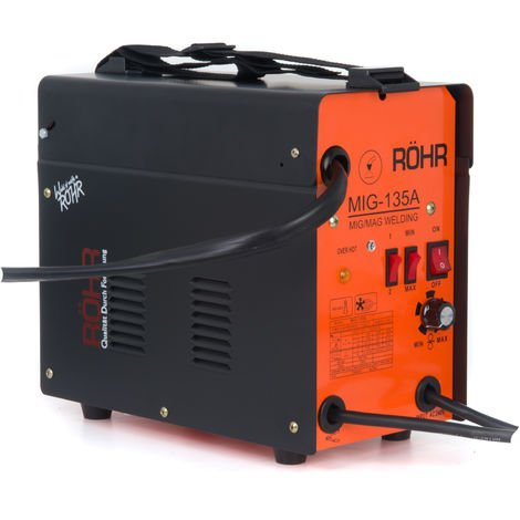 RÖHR MIG-135A - MIG Welder Gasless Inverter 240V / 135 amp / AC No-Gas Welding Machine