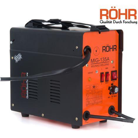 RÖHR MIG-135A - MIG Welder Gasless Inverter 240V / 135 amp / AC No-Gas Welding Machine