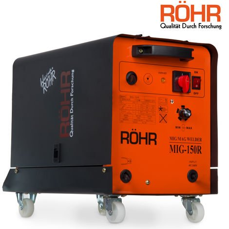 RÖHR MIG-150R - MIG Welder Inverter 220V / 150 amp / DC Gas Flux Wire Welding Machine