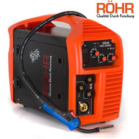 Röhr MIG-200MI - Poste à souder - 3 en 1 - MIG / onduleur MMA - avec / sans gaz - technologie IGBT - 240 V - 200 A DC