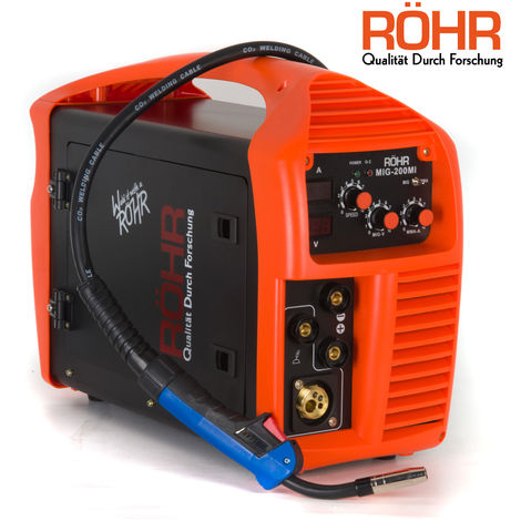 RÖHR MIG Welder Inverter Gas / Gasless MMA 3-in-1 IGBT 240V 200 amp DC