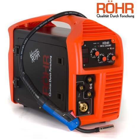 Röhr - Poste à souder MIG-200MI - 3 en 1 - MIG / onduleur MMA - avec / sans gaz - technologie IGBT - 240 V - 200 A DC