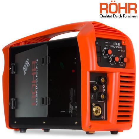 Röhr - Poste à souder MIG-250MI - 3 en 1 - MIG / onduleur MMA - avec/sans gaz - technologie IGBT - 240 V - 250 A DC