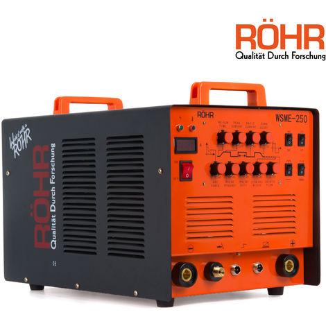 Röhr WSME-250 - Inverter-Schweißgerät 4-in-1 - für WIG-/MMA-Schweißen - mit/ohne Gas AC/DC 240V 250A