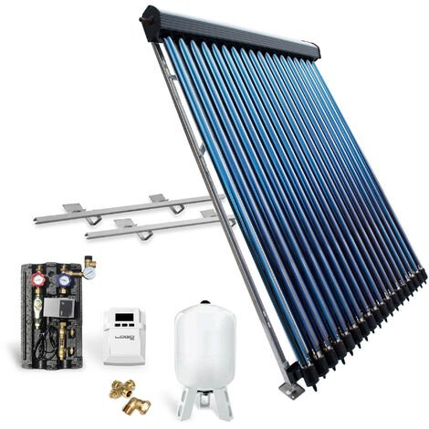 Röhrenkollektor Solarpaket Vakuumröhrenkollektor HP30-1 4,89 m² Flachdach Solar