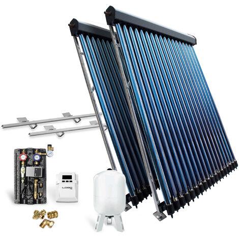 Röhrenkollektor Solarpaket Vakuumröhrenkollektor HP30-2 9,78 m² Flachdach Solar
