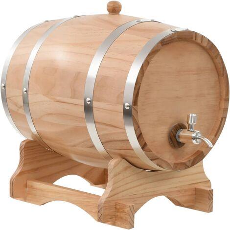 "main image of ""Rogal barril de vino con grifo madera de pino maciza 12 l Rogal"""