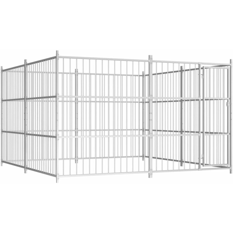 chenil d'extérieur pour chiens 300 x 300 x 185 cm - Rogal