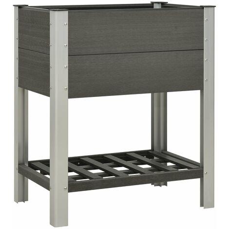 "main image of ""Rogal mesa de cultivo para jardín con estante wpc gris 75x50x90 cm Rogal"""