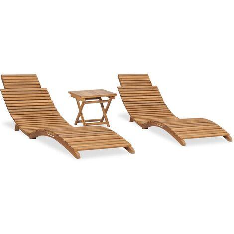 """main image of """"Rogal mesa y sillas plegables para balcón 3 pzas madera maciza teca Rogal"""""""